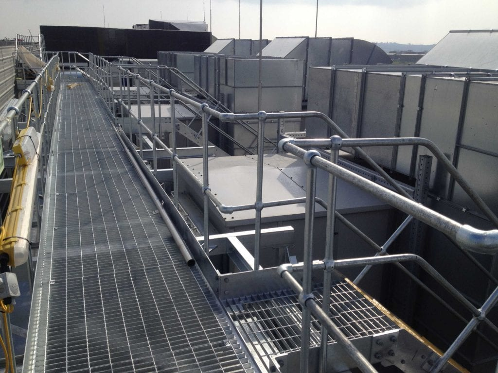Gantries handrails